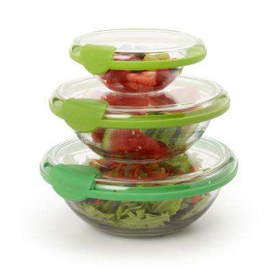 Bowl Hugger Green Plastic (Set of 3)