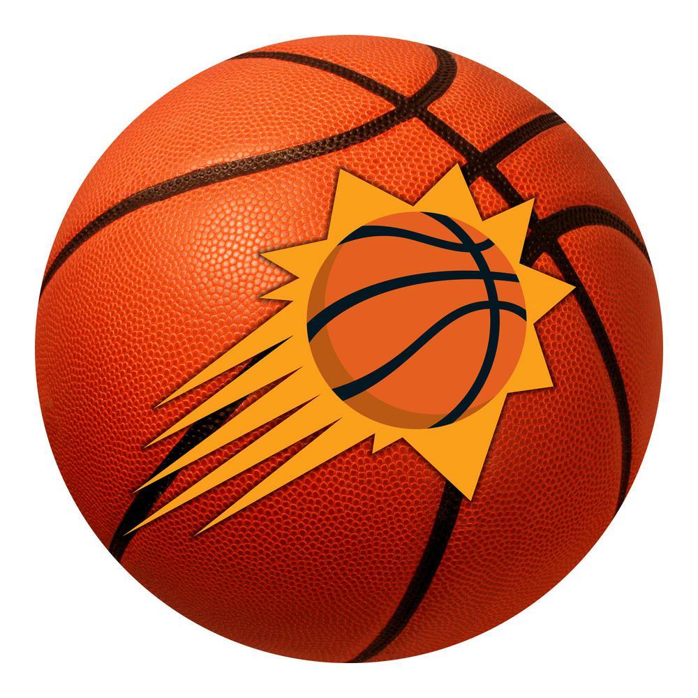 NBA Phoenix Suns Orange 27 in. Round Indoor Basketball Mat Area Rug