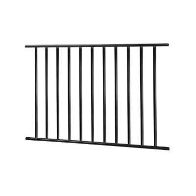 Metropolitan 4 ft. X 32 in. Black Steel Rail Panel