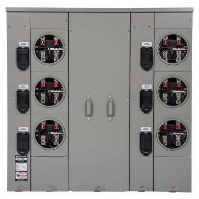 Uni-PAK 6-Gang 400 Amp Ringless Style Multi-Family Metering with Horn Bypass