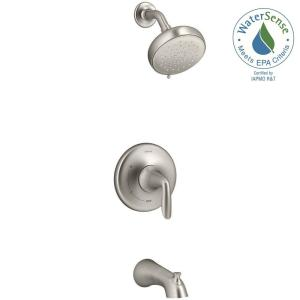 Willamette Single Handle 3 Spray Tub And Shower Faucet In Vibrant Brushed  Nickel