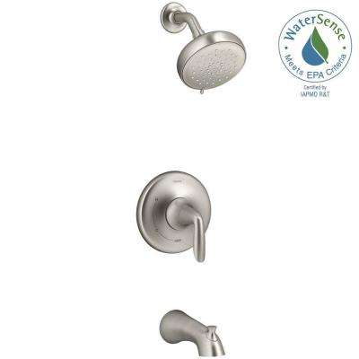 Willamette Single-Handle 3-Spray Tub and Shower Faucet in Vibrant Brushed Nickel
