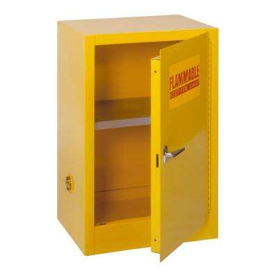 35 in. H x 23 in.W x 18 in. D Steel Freestanding Flammable Liquid Safety Single-Door Storage Cabinet in Yellow