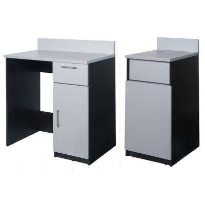 Coffee Kitchen Espresso/Silver Sideboard with Lunch Break Room Functionality with Assembled Commercial Grade
