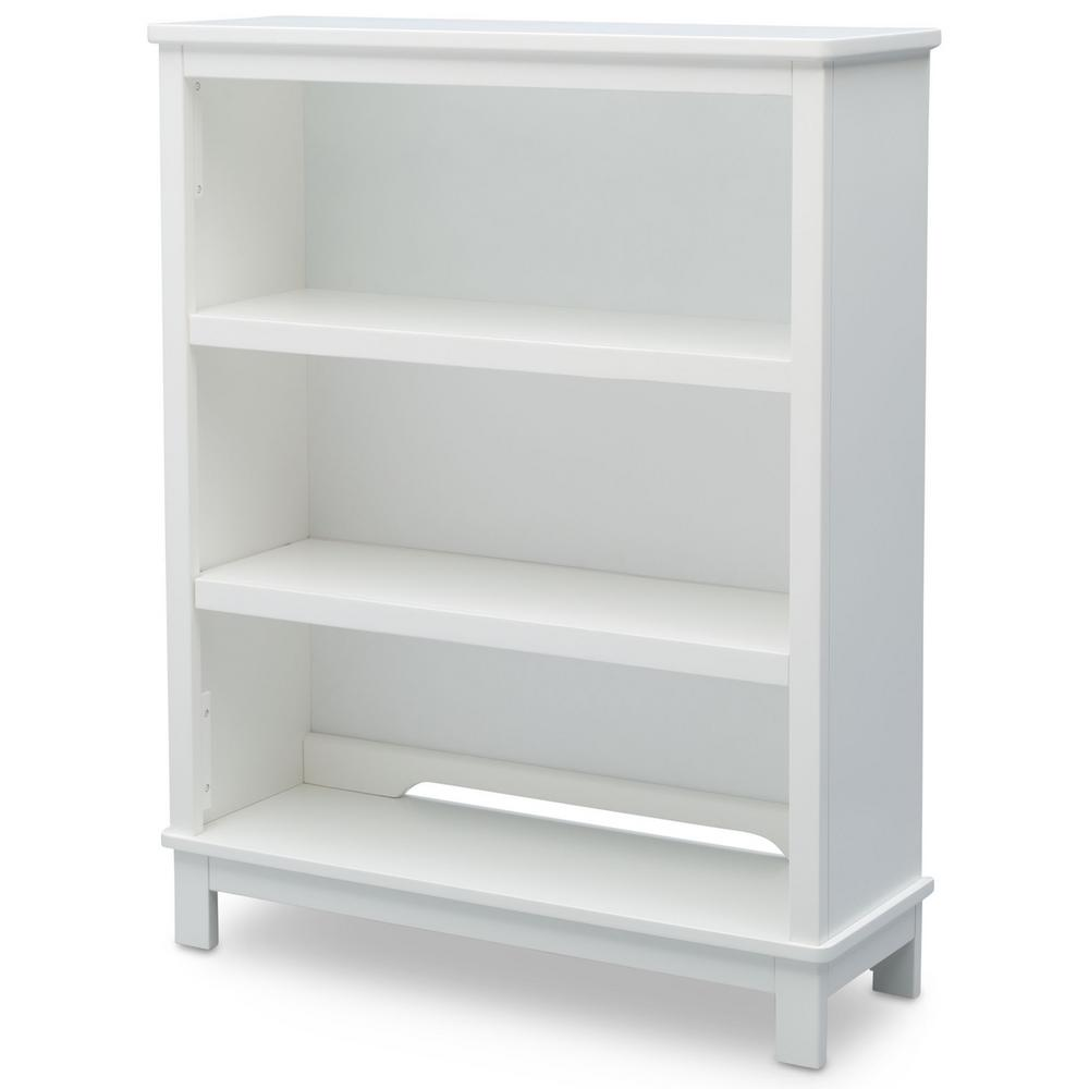 Universal 3-Shelf Bianca White Bookcase