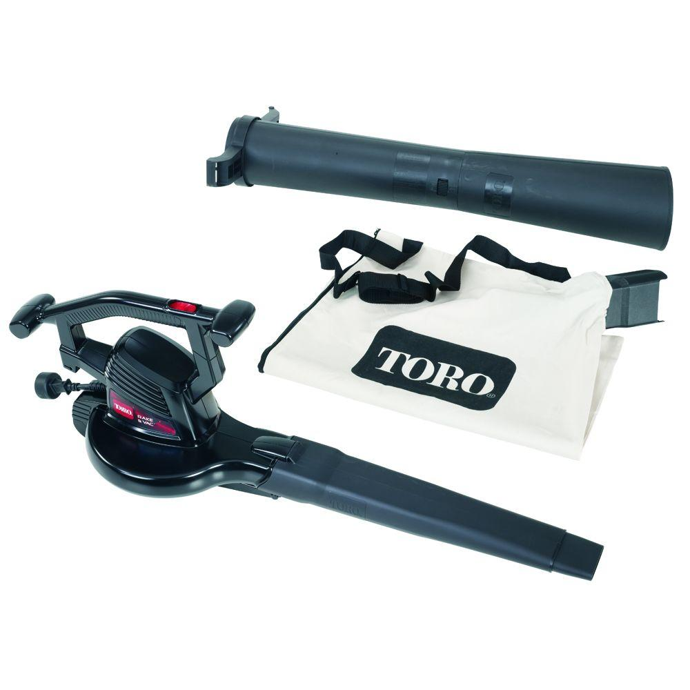 Toro 215 MPH 240 CFM Rake and Vac Electric Leaf Blower Vacuum Shredder
