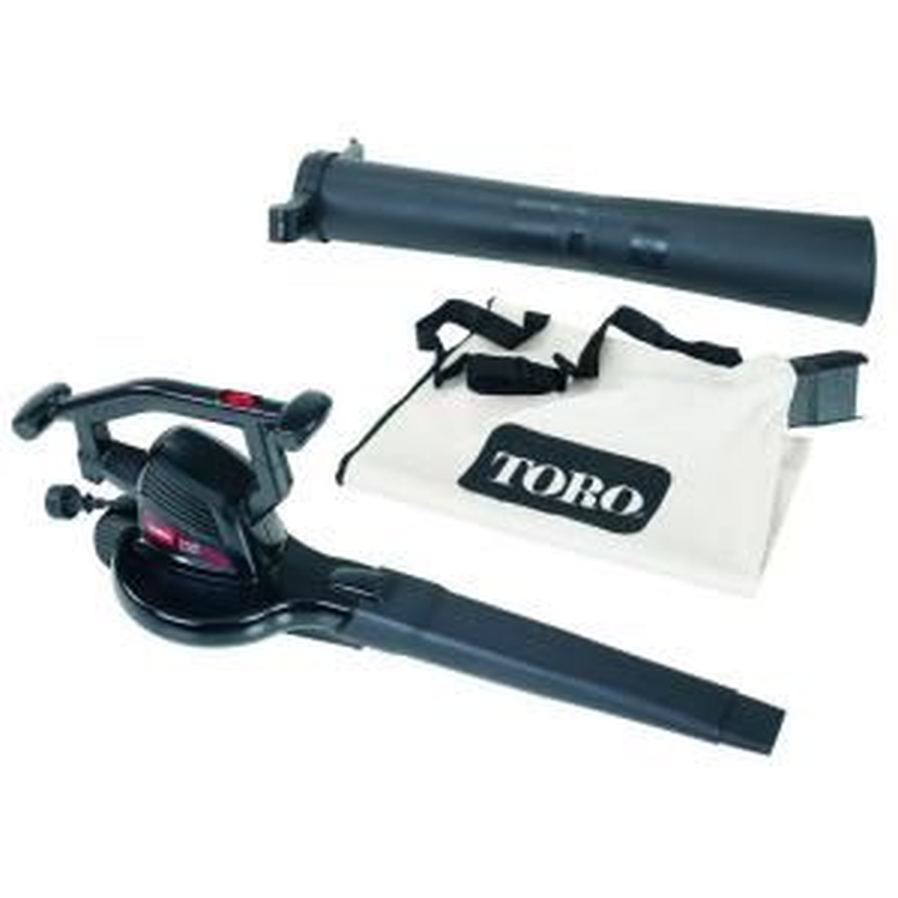 Toro 215 MPH 240 CFM Rake and Vac Electric Leaf Blower Vacuum Shredder by Toro