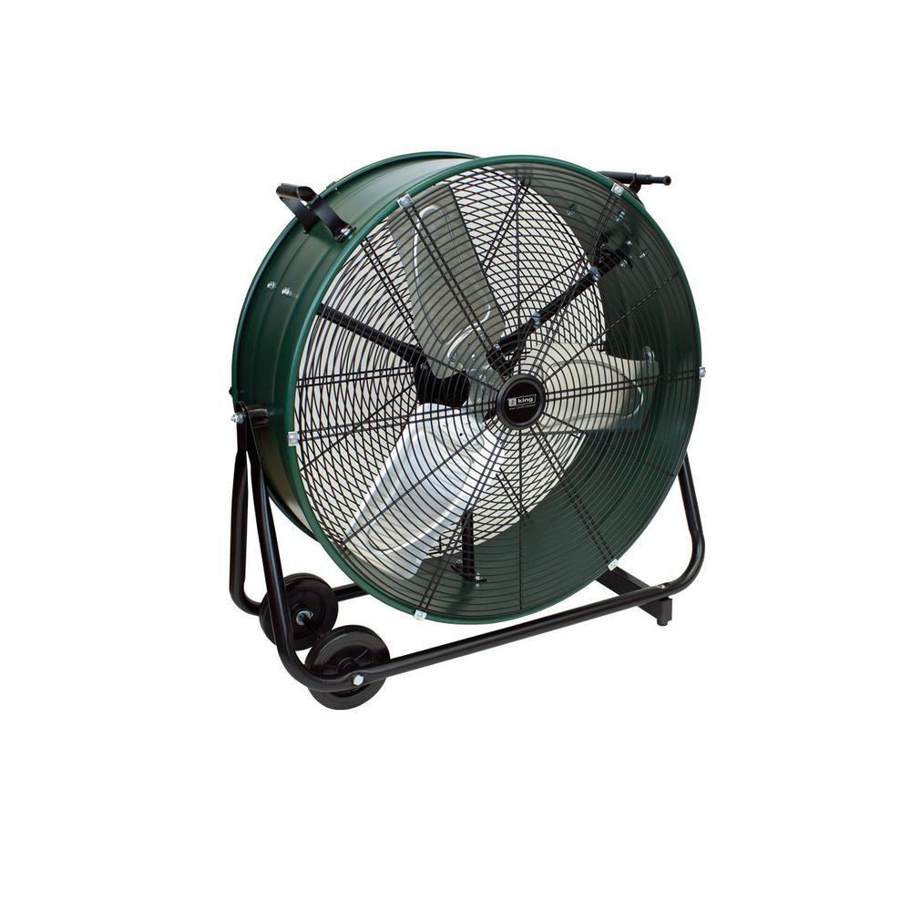 King Electric 24 in. Drum Fan Direct Drive Tiltable