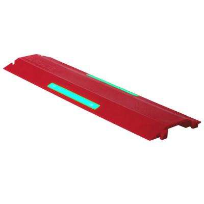 3 ft. Single Channel Wire/Cable Protector with Glow in the Dark Strip, Red
