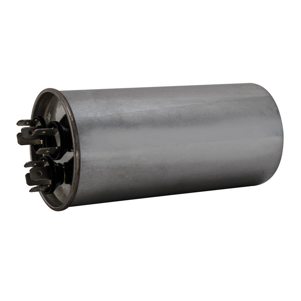 Eastman 45/5 MFD 440 VAC Round Dual Run Capacitor