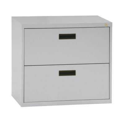 400 Series 26.6 in. H x 30 in. W x 18 in. D 2-Drawer Dove Grey Lateral File Cabinet