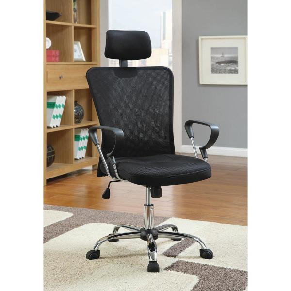 Office Chair Black Mesh and Chrome