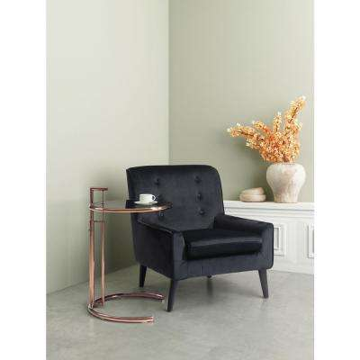 Coney Aqua Velvet Arm Chair