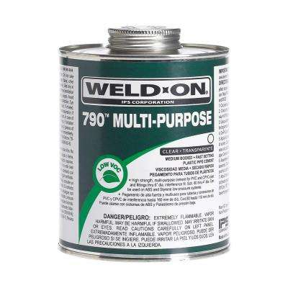 8 oz. PVC 790 Multi Purpose Cement - Clear
