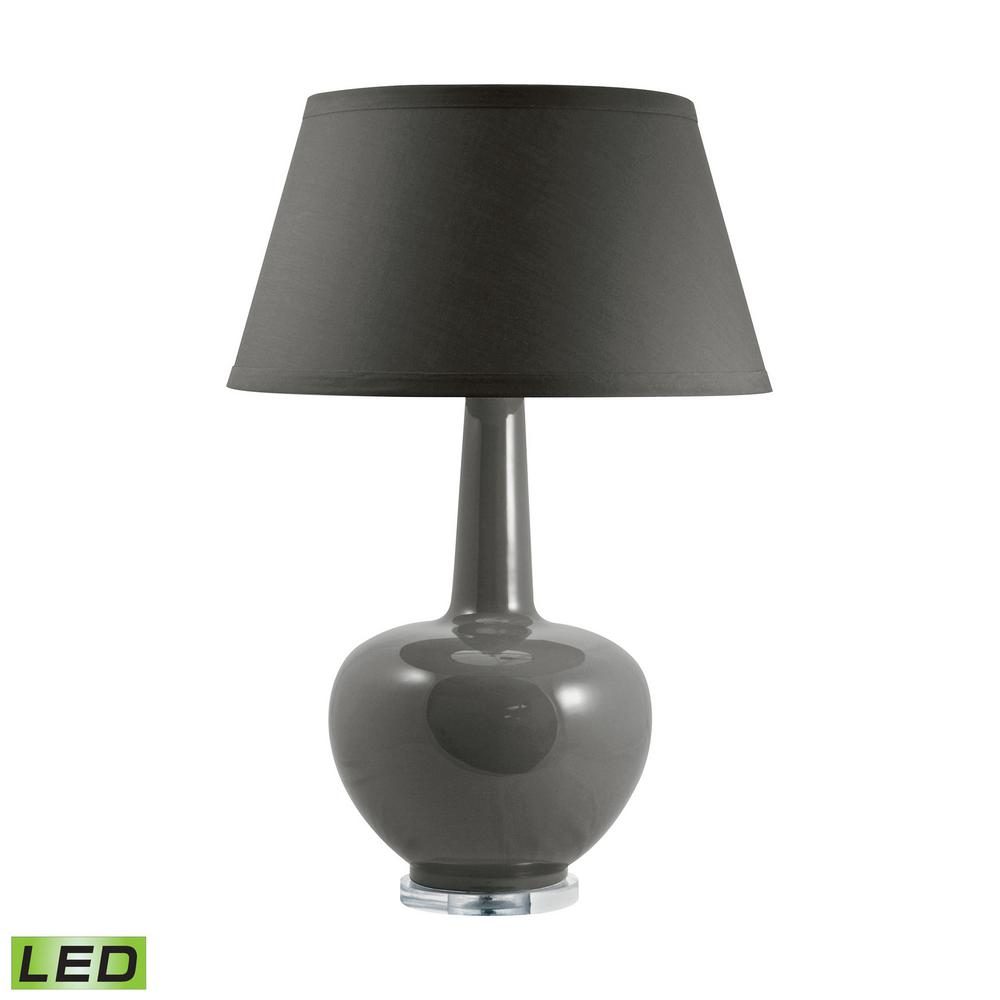 Merveilleux Titan Lighting 31 In. Taupe Porcelain LED Table Lamp