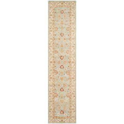 Antiquity Grey Blue/Beige 3 ft. x 18 ft. Runner Rug