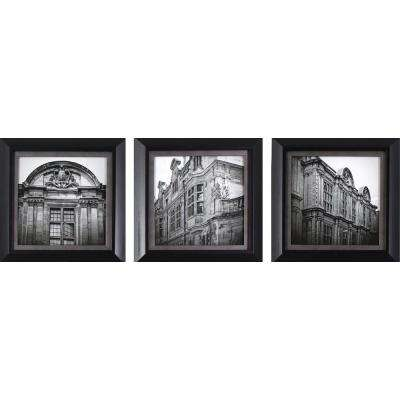 10.75 in. x 10.75 in. European Architecture Printed Framed Wall Art (Set of 3)