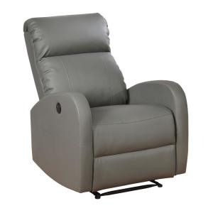 Remarkable Ac Pacific Grey Sean Modern Leather Infused Small Power Onthecornerstone Fun Painted Chair Ideas Images Onthecornerstoneorg