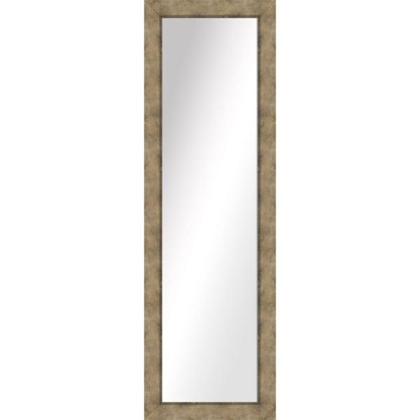 Large Rectangle Medium Champagne Art Deco Mirror (51.5 in. H x 15.5 in. W)