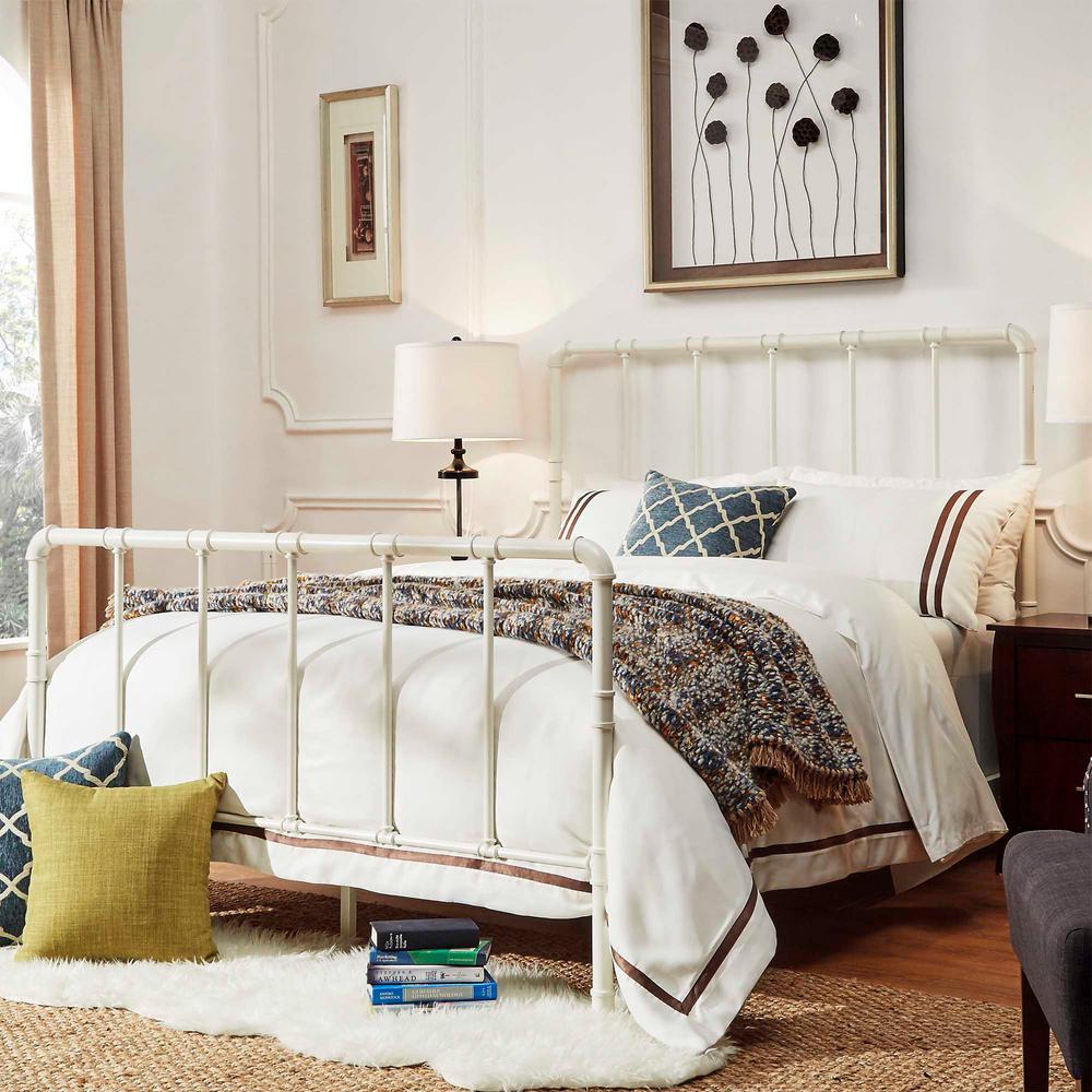Byer White King Bed Frame