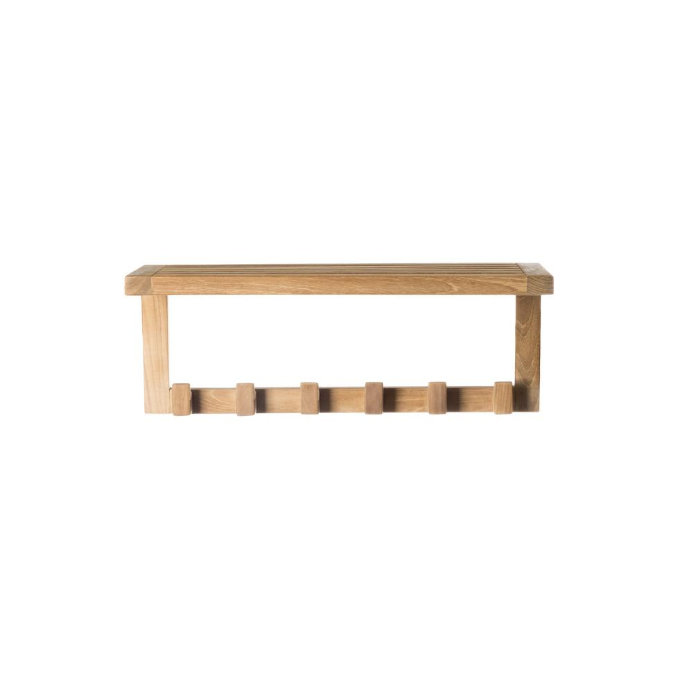 ARB Teak and Specialties 23.50 in. x 9 in. Wall Shelf in Natural ...
