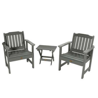 Lehigh Coastal Teak 3-Piece Recycled Plastic Outdoor Conversation Set