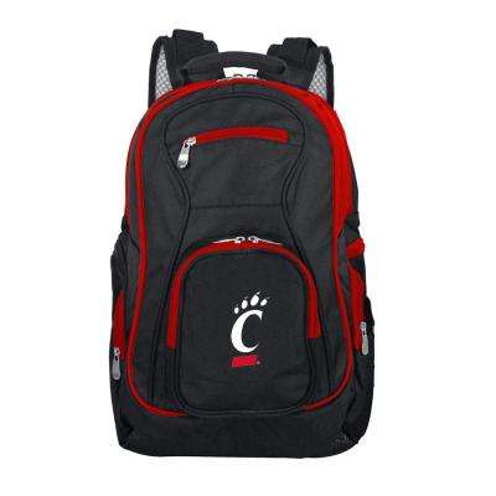 NCAA Cincinnati Bearcats 19 in. Black Trim Color Laptop Backpack