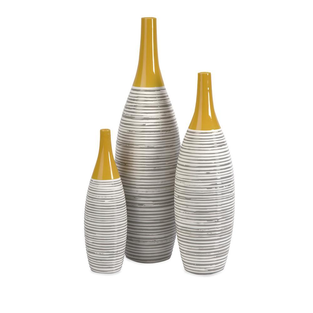 Andean Multi Glaze Vases (Set of 3)