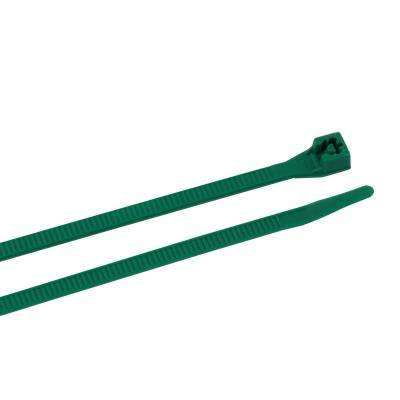 4 in. and 8 in. Cable Tie, Green (200-Pack) Case of 12