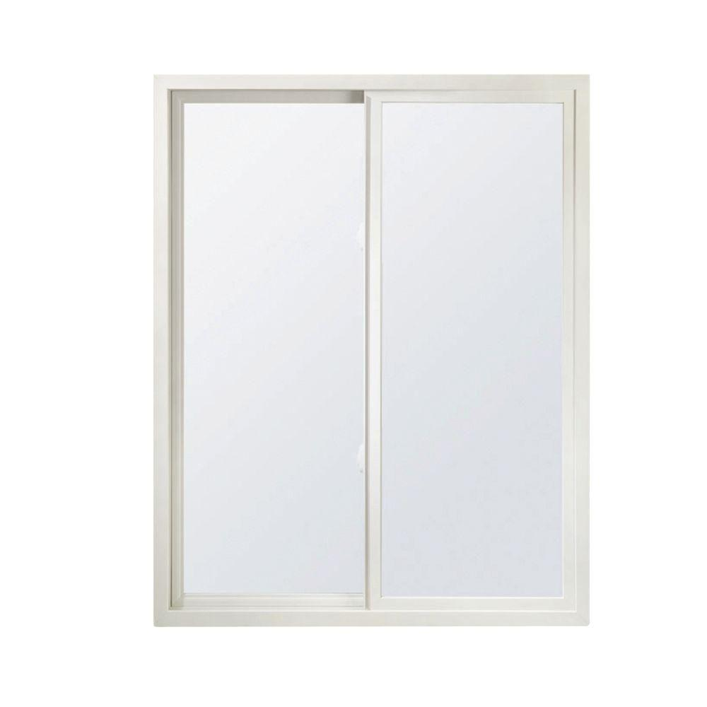 Andersen 35.5 in. x 23.5 in. 100 Series Active Left Gliding Composite Window with SmartSunGlass- White