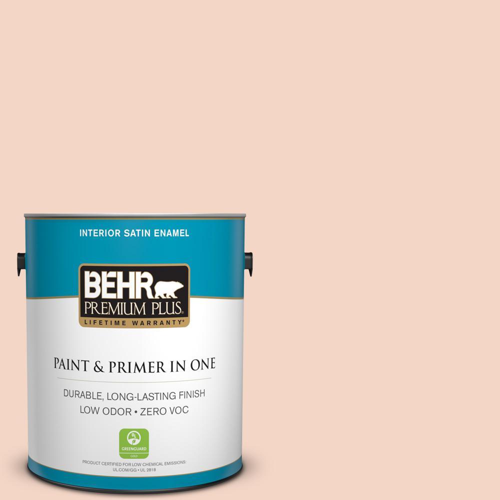 BEHR Premium Plus 1-gal. #M180-2 Resort Sunrise Satin Enamel Interior Paint