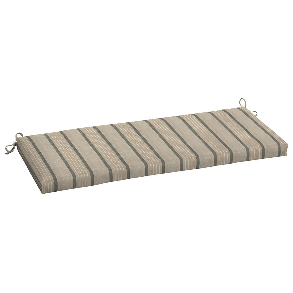 48 X 18 Sunbrella Cove Pebble Outdoor Bench Cushion