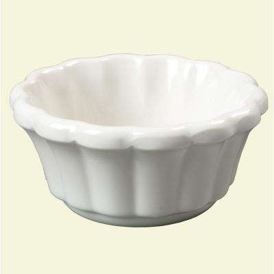 1.6 oz. Melamine Scalloped Ramekin in Bone (Case of 48)