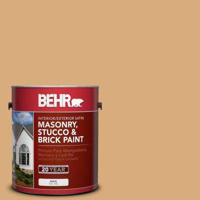 1 gal. #PPU6-05 Cork Satin Interior/Exterior Masonry, Stucco and Brick Paint