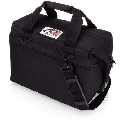 30 Qt. Canvas Cooler with Shoulder Strap and Wide Outside Pocket