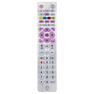 UltraPro 6-Device Universal Remote Control in Brushed Silver