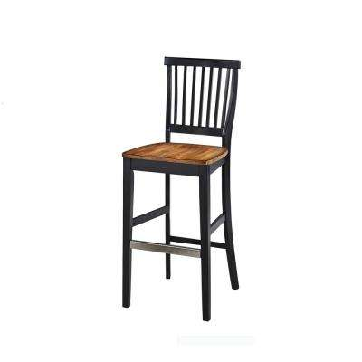 Americana 29 in. Black Bar Stool