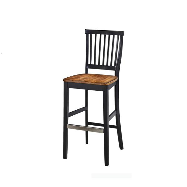 Pleasing Americana 29 In Black Bar Stool Gamerscity Chair Design For Home Gamerscityorg