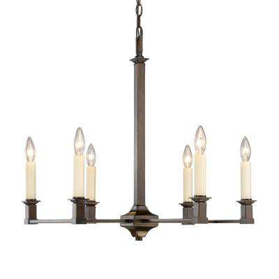 Bradley 6-Light Cordoban Bronze Chandelier