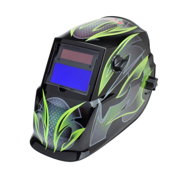 Auto-Darkening Welding Helmet with Variable Shade Lens No. 9-13 (1.73 x 3.82 in. Viewing Area), Galaxis Design
