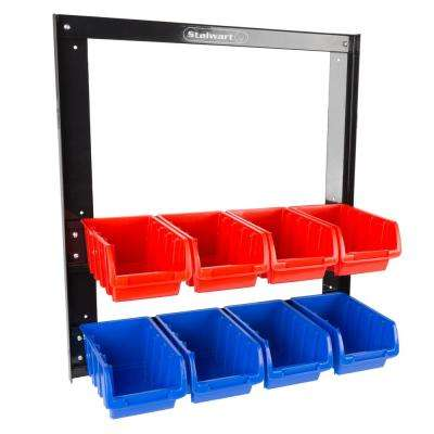 8-Compartment Small Parts Organizer Rack