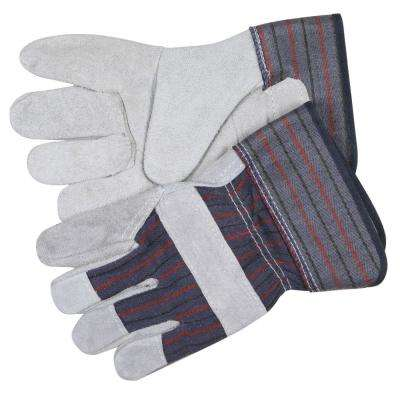 Leather Palm Economy Safety Gloves