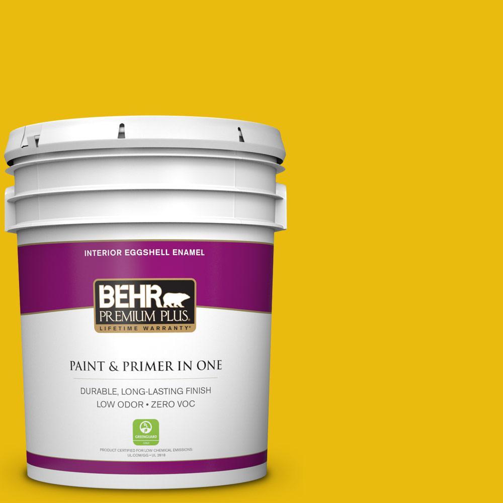5 gal. #390B-7 Lemon Lime Zero VOC Eggshell Enamel Interior Paint