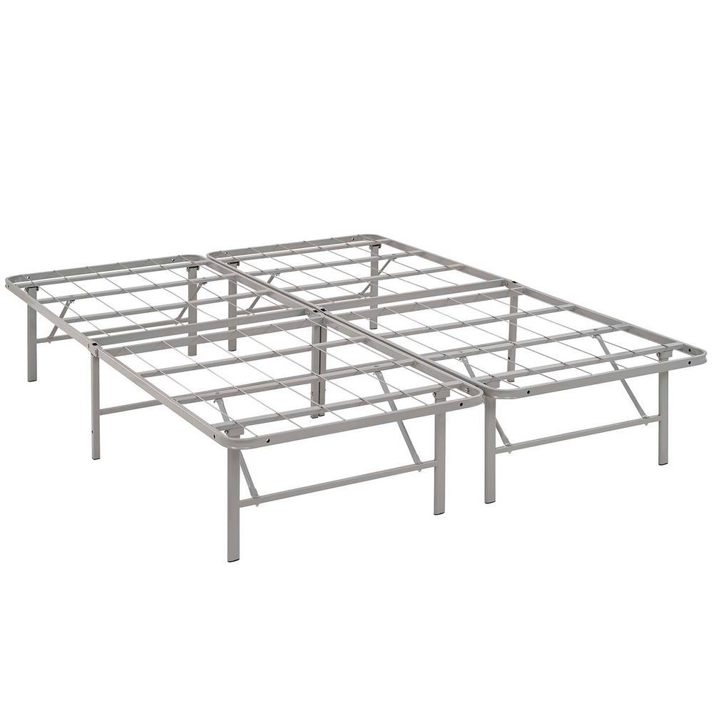 Horizon Gray Full Stainless Steel Bed Frame