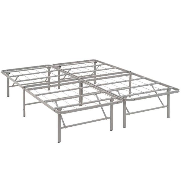 MODWAY Horizon Gray Full Stainless Steel Bed Frame MOD-5428-GRY