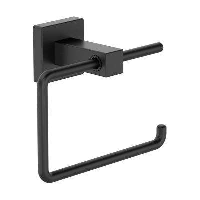 Duro Wall Mounted Toilet Paper Holder in Matte Black