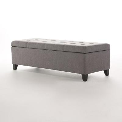 Surprising Gray Ottomans Living Room Furniture The Home Depot Creativecarmelina Interior Chair Design Creativecarmelinacom