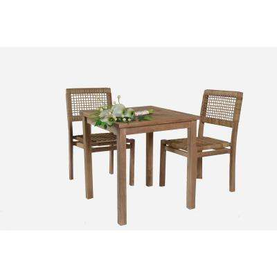 Sophia 3 Piece Teak Wood Outdoor Bistro Set Part 68