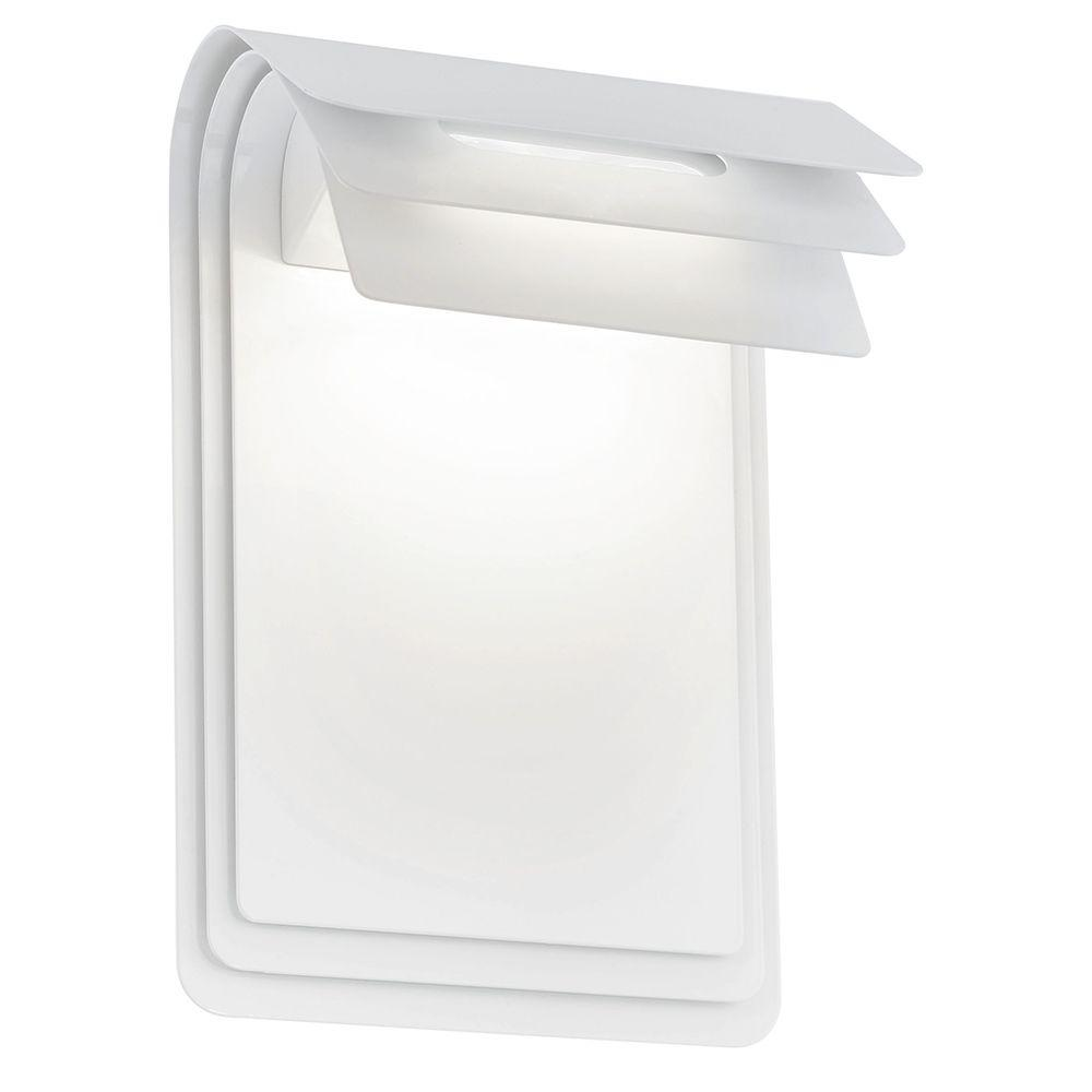 Sojo 2-Light White Outdoor Integrated LED Wall Light
