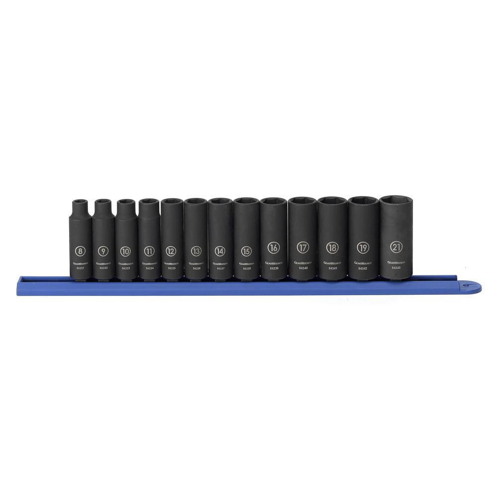 3/8 in. Drive Metric Deep Impact Socket Set (13-Piece)